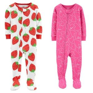 NEW NWT 2 Carter's cotton footies 24 months